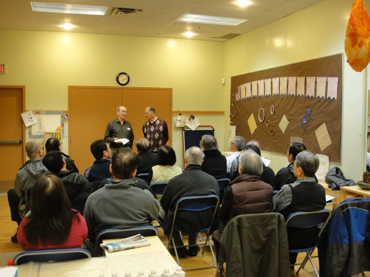 Len Gross, leader and founder of the Vancouver Prostate Cancer Support Group, shares his expertise at the first Richmond Prostate Cancer Support Group meeting in 2013.
