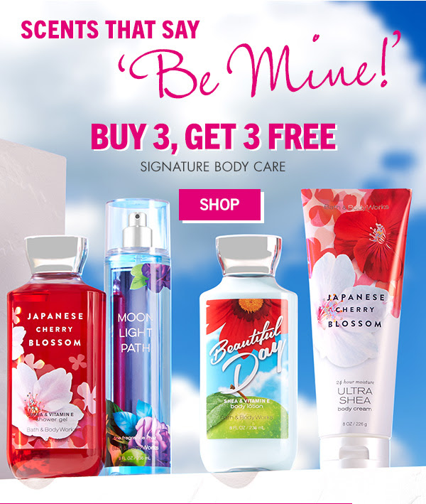 Scents that Say 'Be Mine!' Buy 3, Get 3 Free Signature Body Care - SHOP