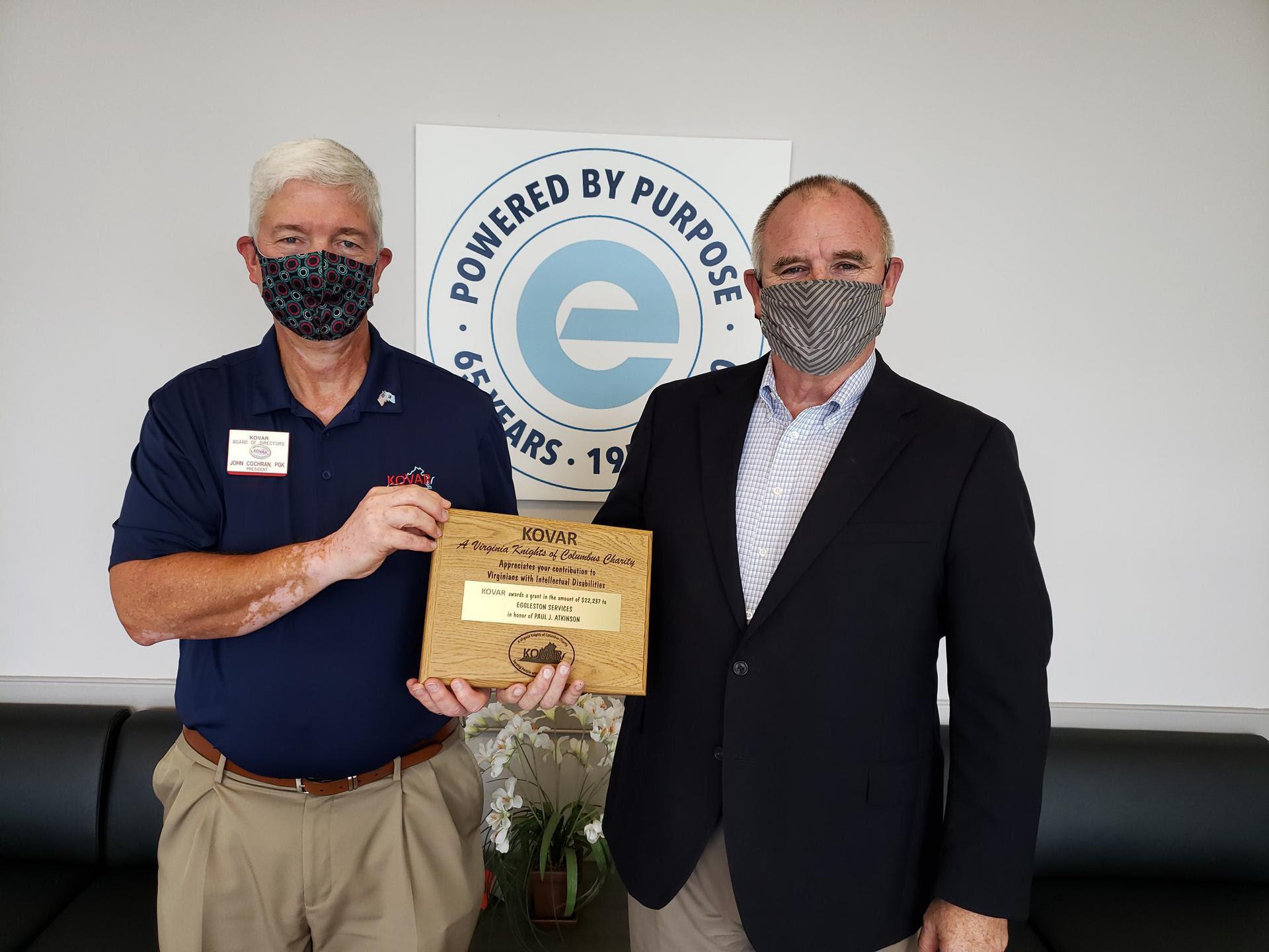 Photo KOVAR President and Eggleston CEO
