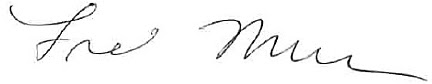 Fred Muench Signature