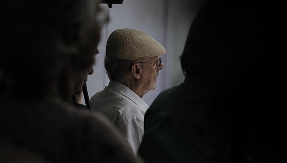 Roberto Fernández Retamar, presidente de Casa de las Américas, estuvo en el concierto. Foto: Carla Valdés