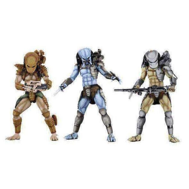 Image of Alien vs. Predator Arcade Appearance Predator Set of 3 Figures - January 2019