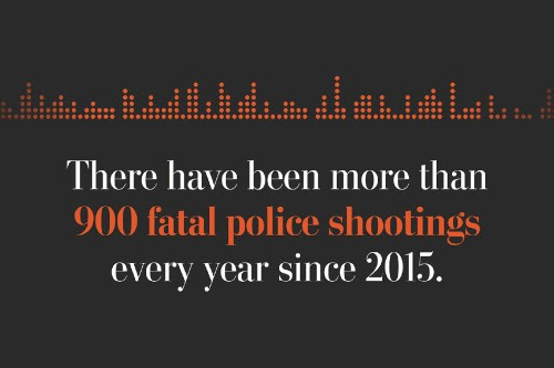 1,003 people have been shot and killed by police in the past year