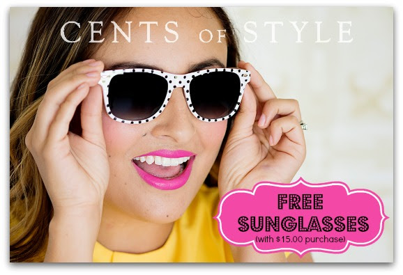 FREE Sunglasses with ANY $15.0...
