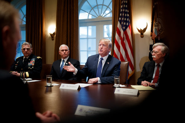 President Trump on Monday in Washington. He lashed out against his top law enforcement officials on Monday night.
