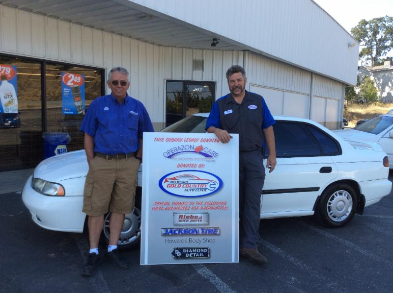 Dirk Milam of Riebes Auto Parts with  Don Wilke
