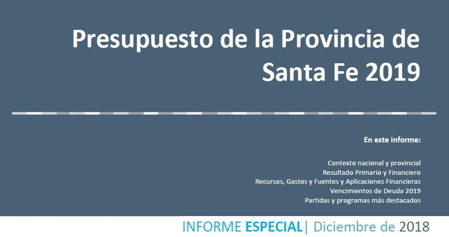 Santa fe: análisis del presupuesto provincial