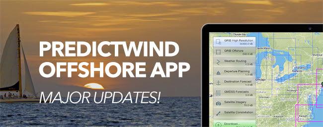 PredictWind Offshore App - Major Updates