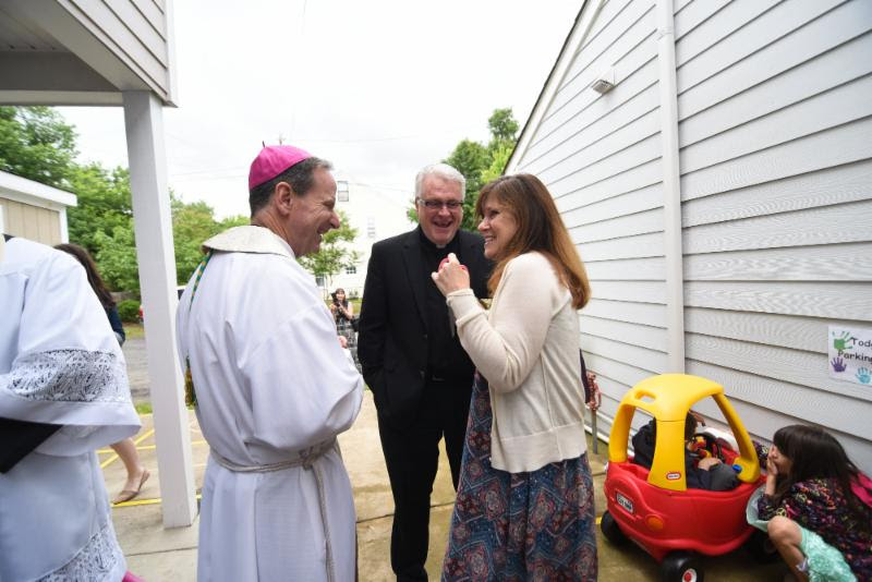 Bishop with KW and Fr. Rooney