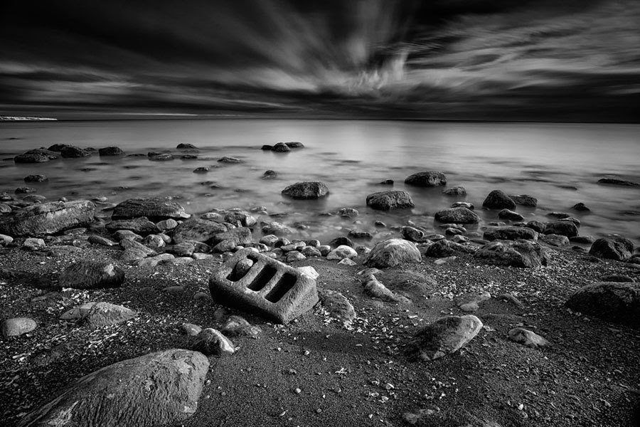 Grey Scale Beach