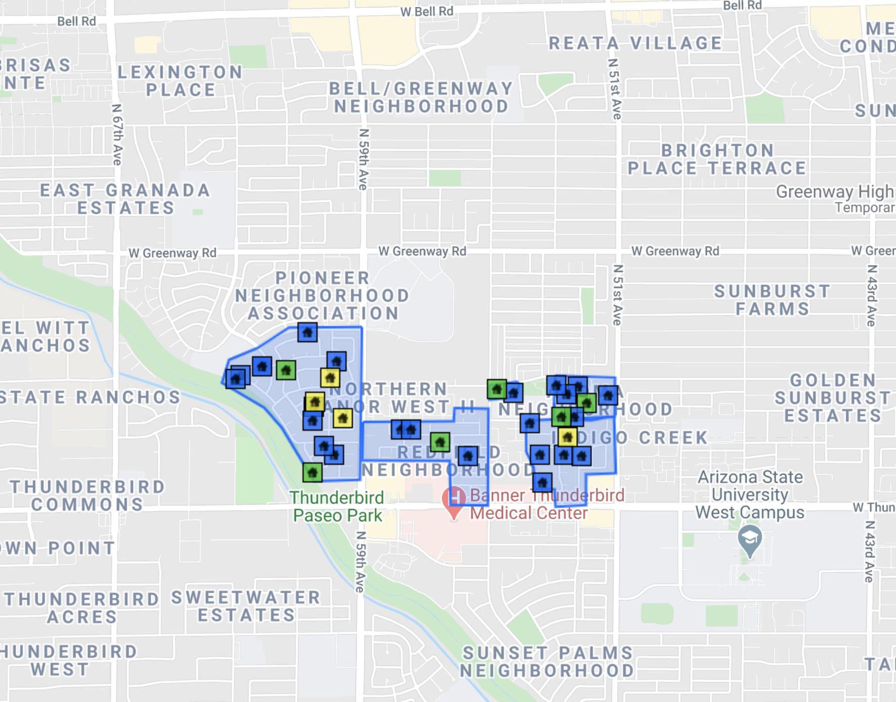 5827 W Hearn Rd Glendale, AZ 85306  comps map