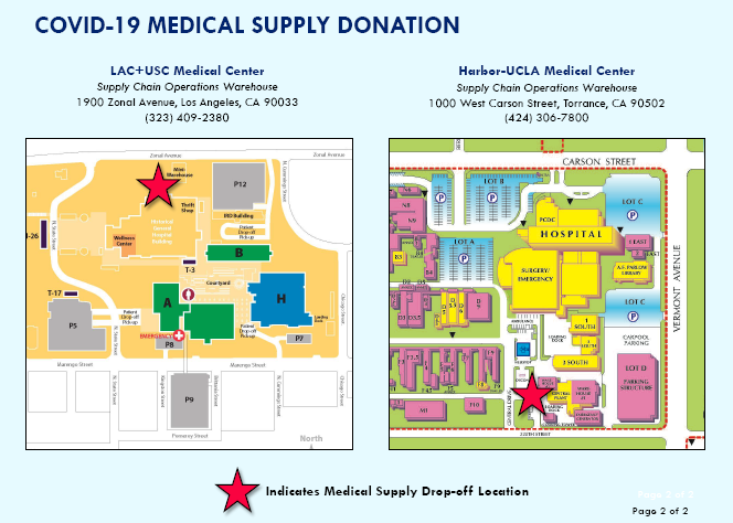 Donations of Medical Supplies call 323-914-7926 for more information