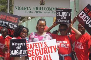 Bring Back Our Girls - One year and Counting. Photo Courtesy of FEMNET