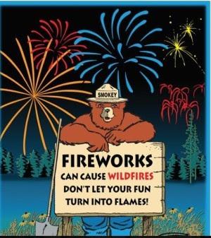 Smokey Bear fireworks