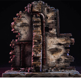 Destroyed Building 1/12 Scale Diorama Base