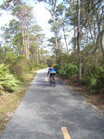 Rider on the Amelia Island Trail in Little Talbot State Park by Doug Alderson
