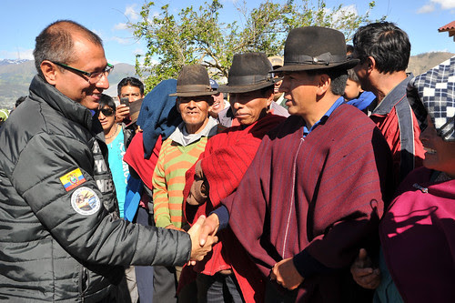 ecuadors vice president Jorge Glas visiting the Andes region