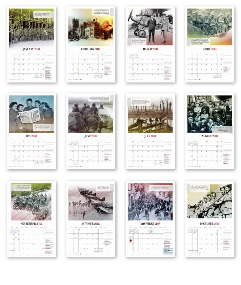 samples of calendar months