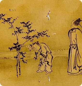 Yukinobu?. Seven sages of the Bamboo Grove. From the Edo period (1800s or earlier). Detail.