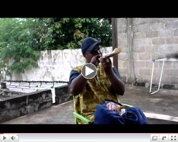 Blowing the shofar in Ivory Coast