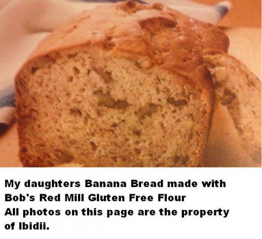 My Daughters Banana Bread with Gluten free flour
