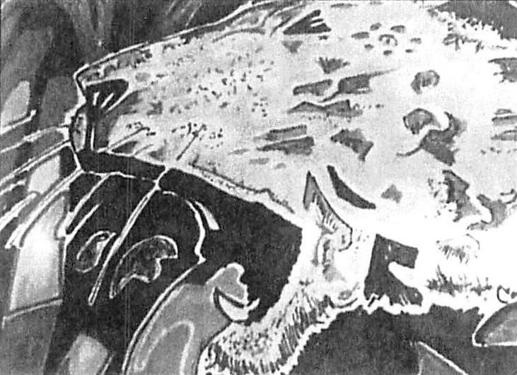 Conan's Artistic depiction of a lion