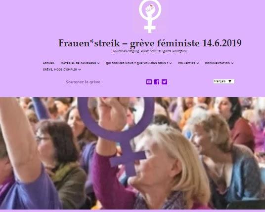 14 juin : grève des femmes en Suisse