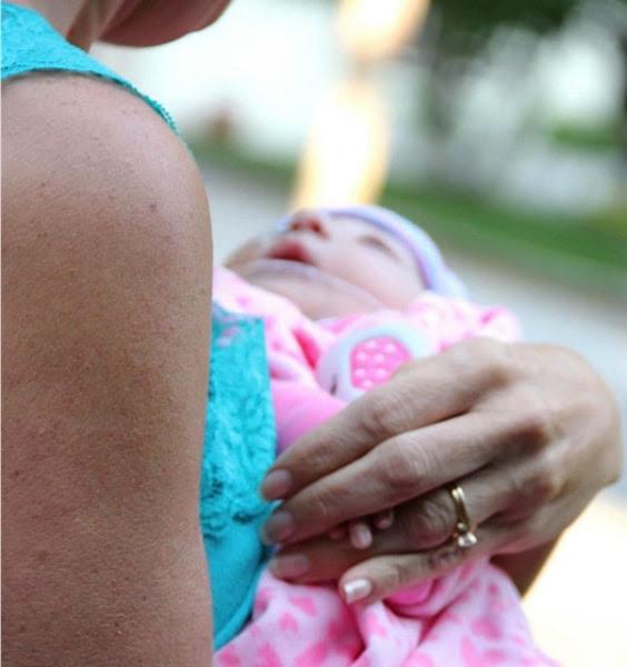 Salchert holds Emmalynn.
