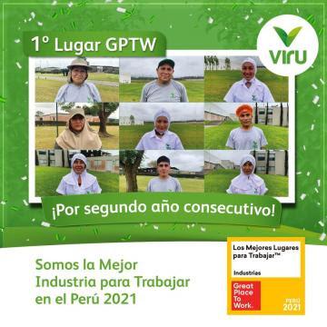 Virú fue reconocida como la Mejor Industria para Trabajar en el Perú 2021