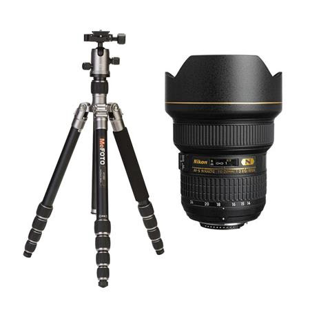 14-24mm f/2.8G ED-IF AF-S NIKKOR Lens F/DSLR Cameras - U.S.A. Warranty - With MeFOTO RoadT