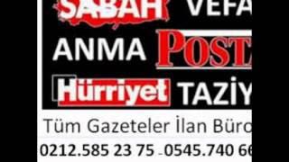 Sabah Vefat ilan Bürosu 0212 585 23 75 Sabah ilan Bürosu Sabah Eleman ilan Bürosu