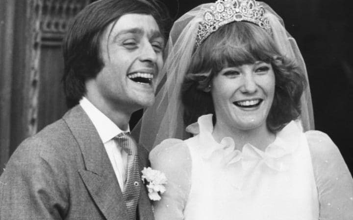 Gerald Grosvenor, 6th Duke of Westminster, and his new wife Natalia Phillips in 1978