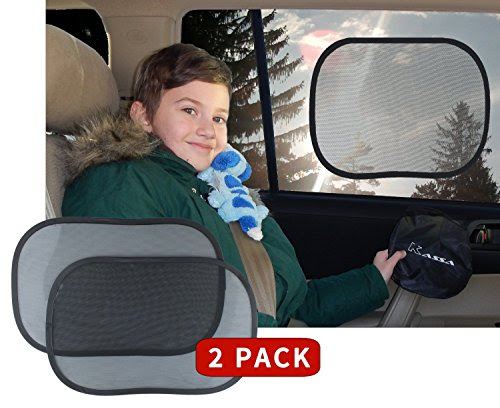 Kassa Car Window Sun Shades Static Cling UV Protection, Set of 2
