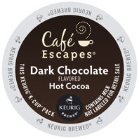Cafe Escapes Dark Chocolate K-Cup® hot cocoa