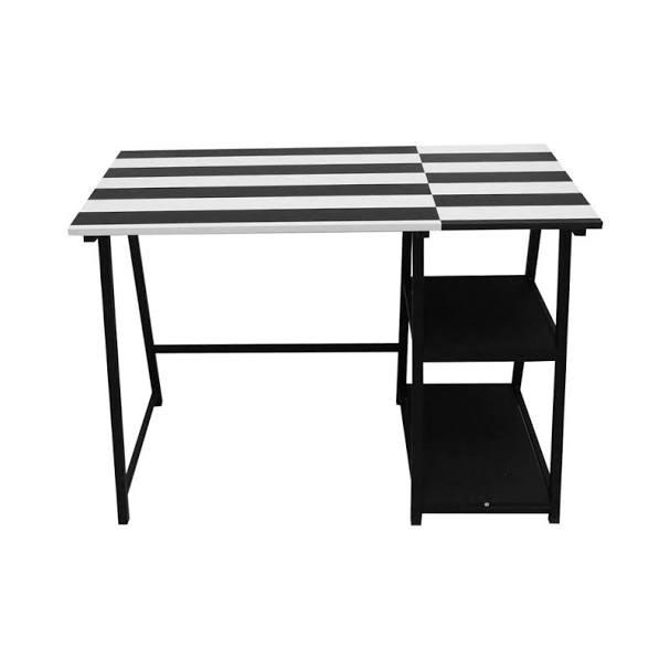 Tama Meja Belajar Anak Stripe - Hitam/putih
