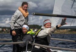 Women's J/24 team at Europeans in Sweden