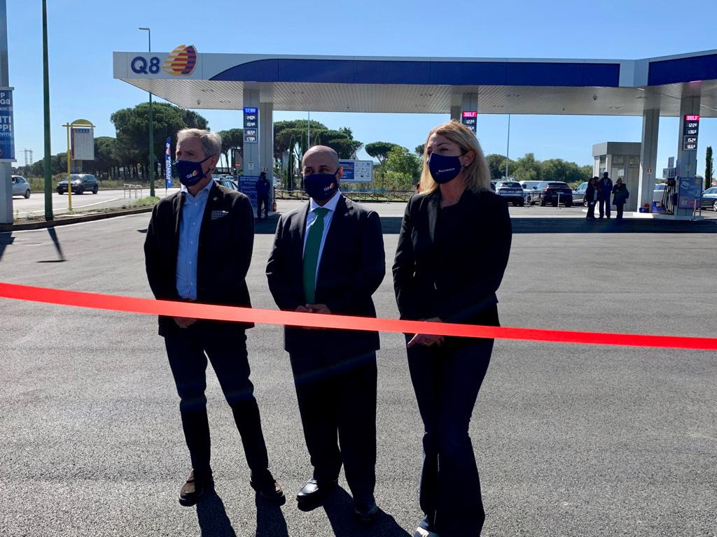 Rome: the first service station in the world paved with graphene enhanced asphalt