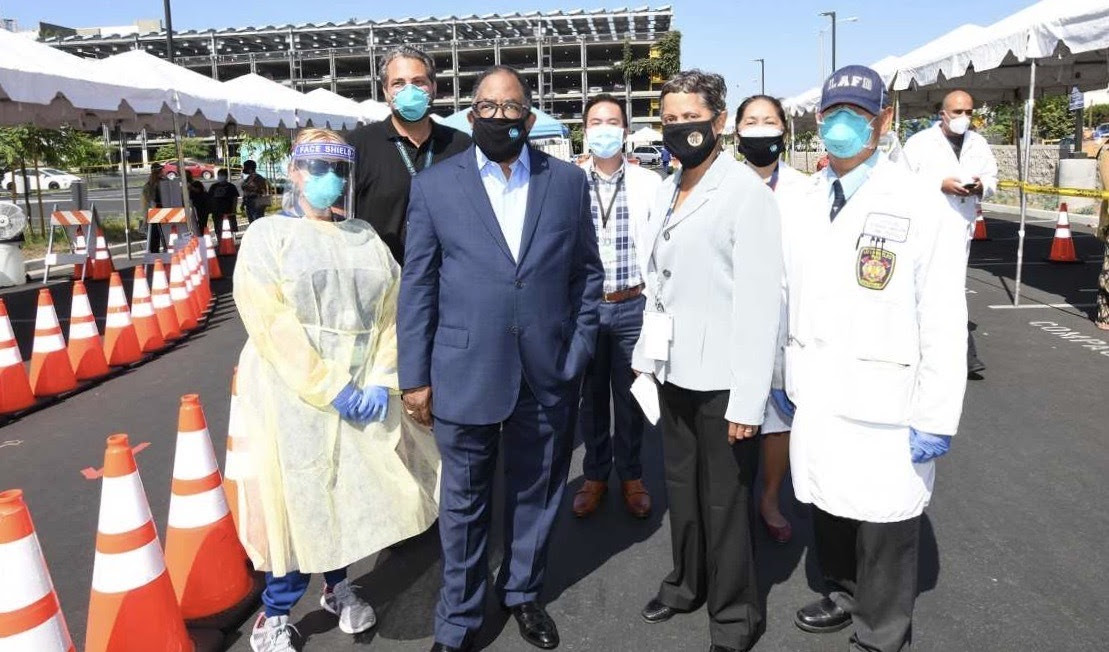 LA County Dept. of Health Services Walk-Up Testing Site at MLK Medical Campus