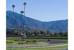 Morning scenes at Santa Anita in preparation for 2016 Breeders' Cup on Nov. 3, 2016, in Arcadia, CA.