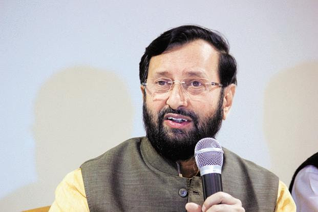 A file photo of environment minister Prakash Javadekar. Photo: Shankar Mourya/HT