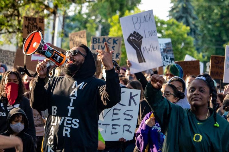 <p>Protestas antirracistas en Monroe park (Eugene, Oregon).</p>