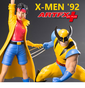 X-Men '92 ArtFX+ Wolverine & Jubilee Statue Two Pack