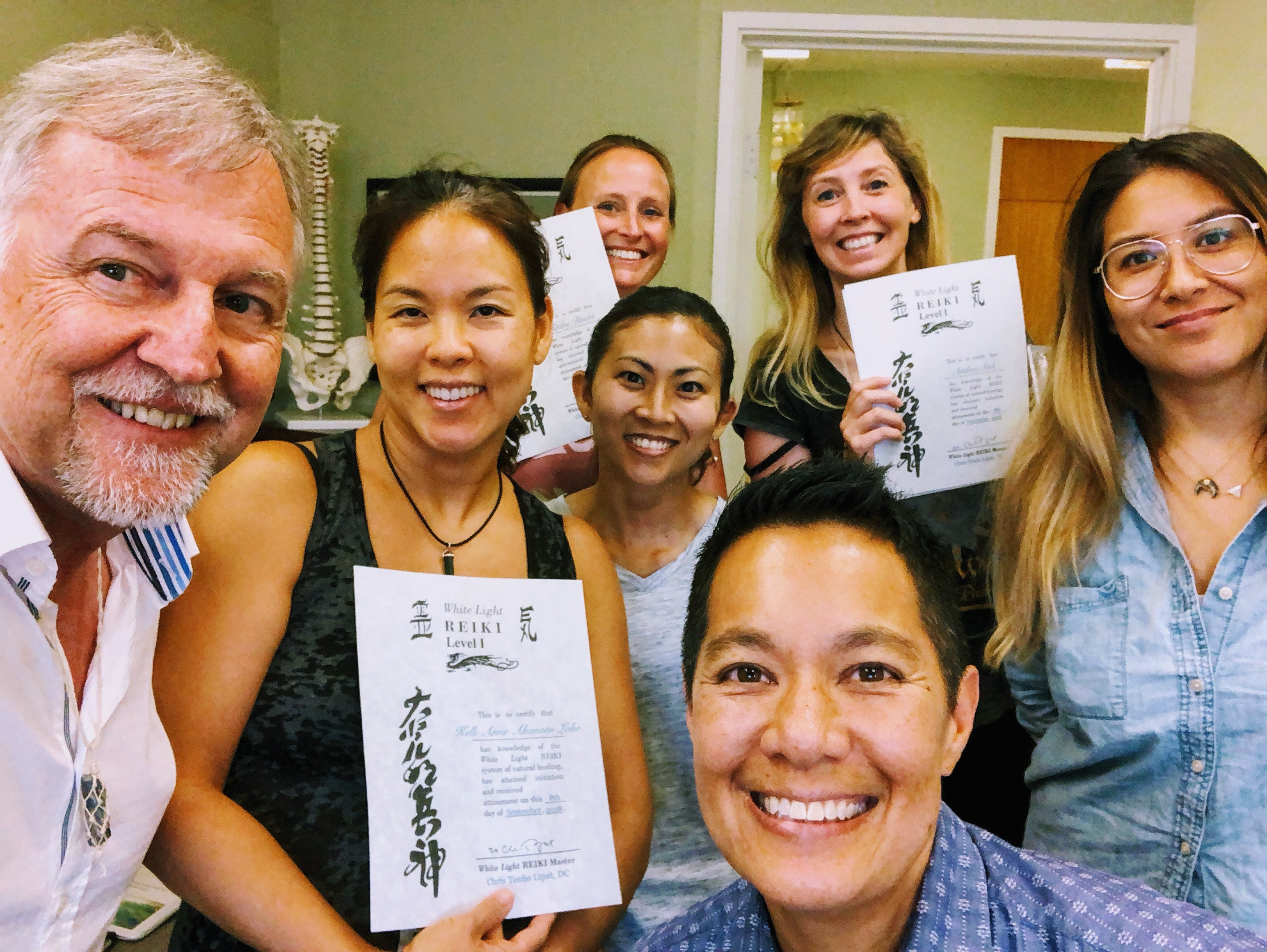 Dr. Chris Lipat teaches Reiki in Honolulu