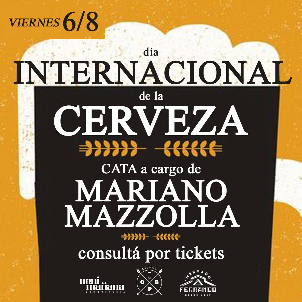 Viernes 6/8 - Día Internacional de la Cerveza - Consultá por tickets