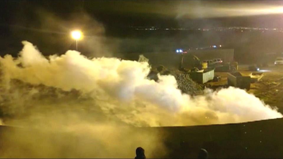 H3 tear gas border