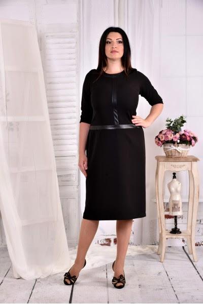 Черное платье большого размера
