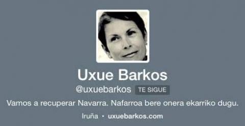 Foto de Uxue Barkos en su perfil de Twitter.