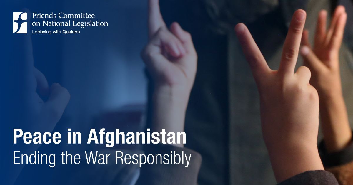Peace in Afghanistan: Ending the War Responsibly