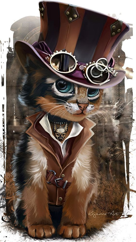 gatito steampunk                                                                                                                                                      Más: