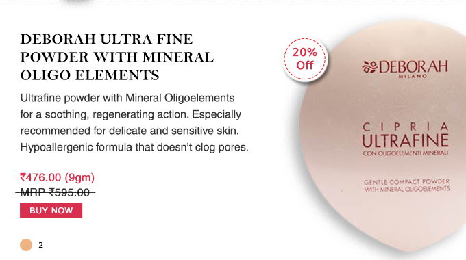 Deborah Ultra Fine Powder With Mineral Oligo Elements